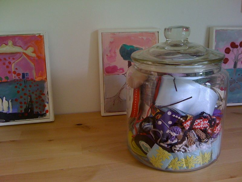My office ribbon jar